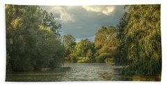 Bath Towel featuring the photograph A View Down The Lake by Jeremy Hayden