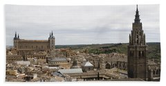 Bath Towel featuring the photograph A View From The Iglesia De San Ildefonso  by Lorraine Devon Wilke
