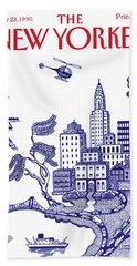 A View Of New York City Hand Towel