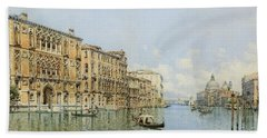 A View Of The Grand Canal With Palazzo Bath Towel