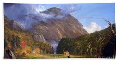 A View Of The Mountain Pass Called The Notch Of The White Mountans By Thomas Cole Bath Towel