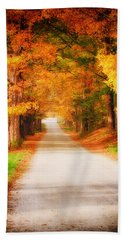 A Walk Along The Golden Path Bath Towel by Jeff Folger