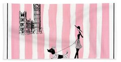 A Walk In London Hand Towel