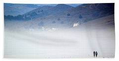 A Walk In The Evening Fog Hand Towel