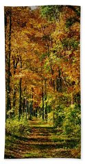 A Walk To Remember In Autumn Bath Towel
