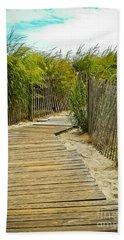 A Walk To The Beach Bath Towel by Colleen Kammerer