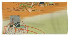 A Wheelbarrow Of Salt Water, 1903 Colour Woodblock Print Hand Towel