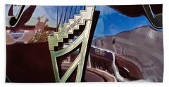 Hand Towel featuring the photograph A Window Guitars View Of The Street by Gary Slawsky