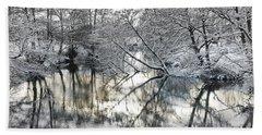 A Winter Scene Hand Towel