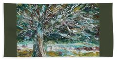 A Winter Tree Hand Towel by Mary Wolf