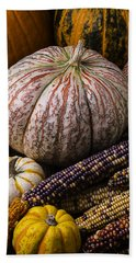 A Wonderful Autumn Harvest Bath Towel