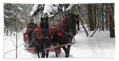 A Wonderful Day For A Sleigh Ride Hand Towel