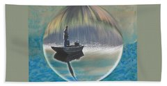 A World Of Good Fishing Bath Towel by Mike Breau