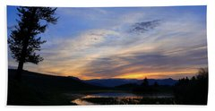 A Yellowstone Lake Before Sunrise Bath Towel