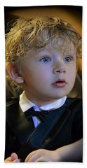 Bath Towel featuring the photograph A Young Gentleman by Ally  White