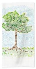 A Young Tree Hand Towel by Keiko Katsuta