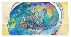 Abalone Shell Tropical Color Hand Towel