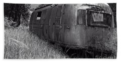 Abandoned Airstream In The Jungle Bath Towel