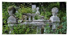 Hand Towel featuring the photograph Abandoned Cemetery 2 by Cathy Mahnke