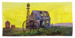 Abandoned  Farm Hand Towel by Lee Piper