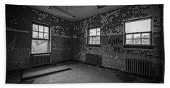 Abandoned Room At Letchworth Bw Bath Towel