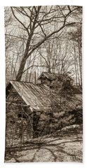Hand Towel featuring the photograph Abandoned Sap House by Alana Ranney