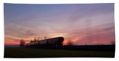 Hand Towel featuring the photograph Abandoned Train  by Eti Reid