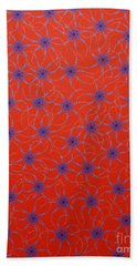 Bath Towel featuring the painting Aboriginal Inspirations Collection 3 by Mariusz Czajkowski