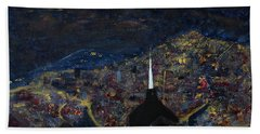 Above The City At Night Hand Towel