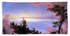 Above The Clouds At Sunrise By Frederick Edwin Church Bath Towel