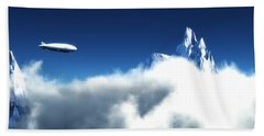 Hand Towel featuring the digital art Above The Clouds... by Tim Fillingim