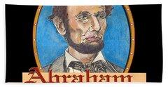 Abraham Lincoln Graphic Hand Towel by John Keaton