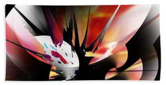 Hand Towel featuring the digital art Abstract 082214 by David Lane