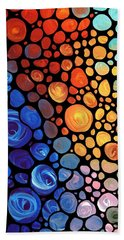 Colored Glass Paintings Hand Towels
