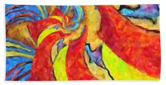 Abstract 34 Bath Towel by Kenny Francis