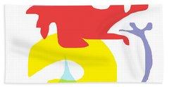 Abstract Ala Matisse 1 Hand Towel