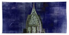 Abstract Architecture Bath Towel