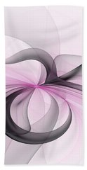 Abstract Art Fractal With Pink Hand Towel