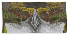 Abstract Art Shemale Treetrunk Nature Natural Eyes Breast   Graphic Artistic Conversion Of Photograp Bath Towel