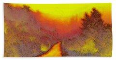 Abstract Autumn Bath Towel
