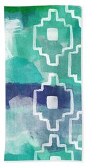 Abstract Aztec- Contemporary Abstract Painting Hand Towel