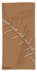 Abstract Branch Winter Net Leaf Hackberry Tree Bath Towel by Tom Janca
