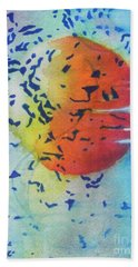 Bath Towel featuring the painting Abstract by Chrisann Ellis