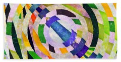 Abstract Circles Hand Towel by Susan Leggett