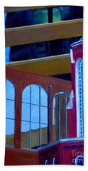 Abstract City Downtown Shreveport Louisiana Urban Buildings And Church Bath Towel