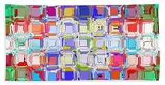 Abstract Color Blocks Hand Towel by Anita Lewis