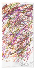Bath Towel featuring the painting Abstract Confetti Celebration by Joseph Baril
