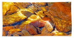 Abstract Creek Water 4 Hand Towel