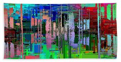 Abstract Cubed 19 Bath Towel