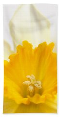 Abstract Daffodil Bath Towel